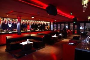 Bar rouge salle