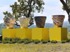 Jean Pierre RAYNAUD 4 pots en marbre collection Domaine de Barbossi