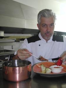 Hôtel Le Vinois chef de cuisine Jean-Claude Voisin