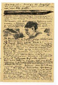 MaisonDuDrGachet-CorrespondanceDArtistes© collection privée  Musee des lettres et manuscrits de Paris.Lettre de van Gogh à van Rappard. 1883.
