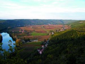 Vignoble de Cahors du Point de vue d'Albas