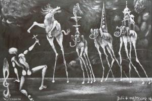 D JEROME MESNAGER - La charge des Eléphants surréalistes (c) Espace Dali
