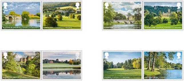 Jardins anglais timbres